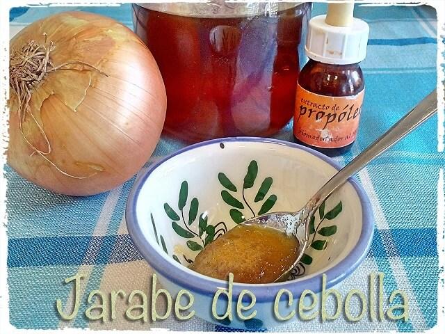 Jarabe de cebolla para la tos