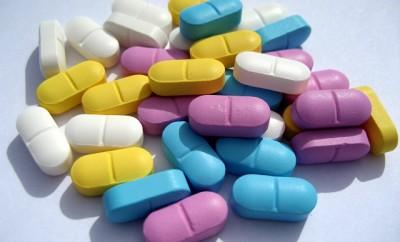 pastillas de diferentes colores