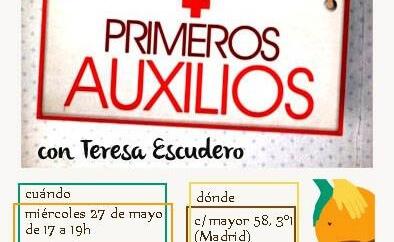 cartel del taller primeros auxilios